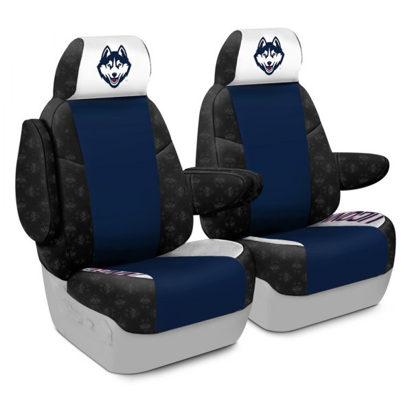 Coverking® - Licensed Collegiate 1st Row Custom Seat Covers with University of Connecticut Logo