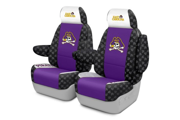 Coverking® - Licensed Collegiate 1st Row Custom Seat Covers with East Carolina University Logo