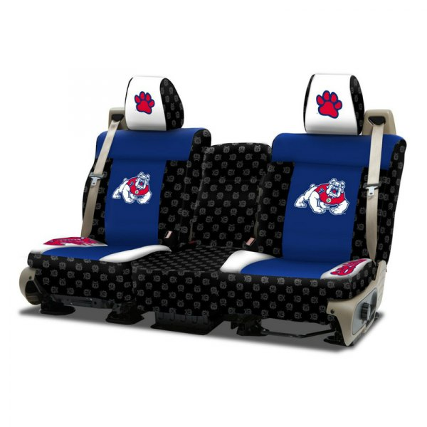 Coverking® - Licensed Collegiate 1st Row Custom Seat Covers with Fresno State Logo