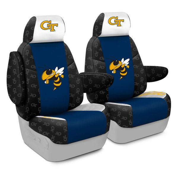 Coverking® - Licensed Collegiate 1st Row Custom Seat Covers with Georgia Institute of Technology Logo
