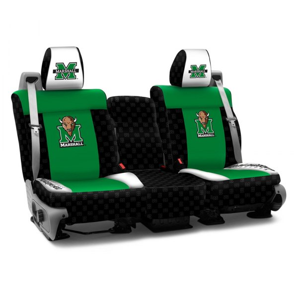 Coverking® - Licensed Collegiate 1st Row Custom Seat Covers with Marshal University Logo