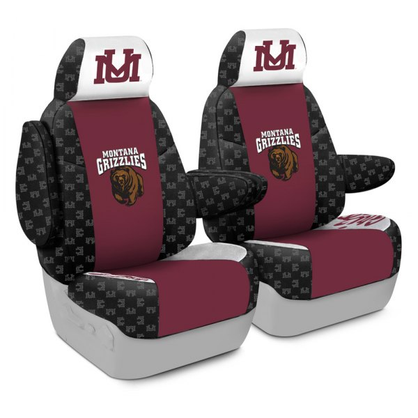 Coverking® - Licensed Collegiate 1st Row Custom Seat Covers with University of Montana Logo
