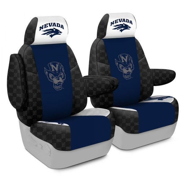 Coverking® - Licensed Collegiate 1st Row Custom Seat Covers with University of Nevada Logo