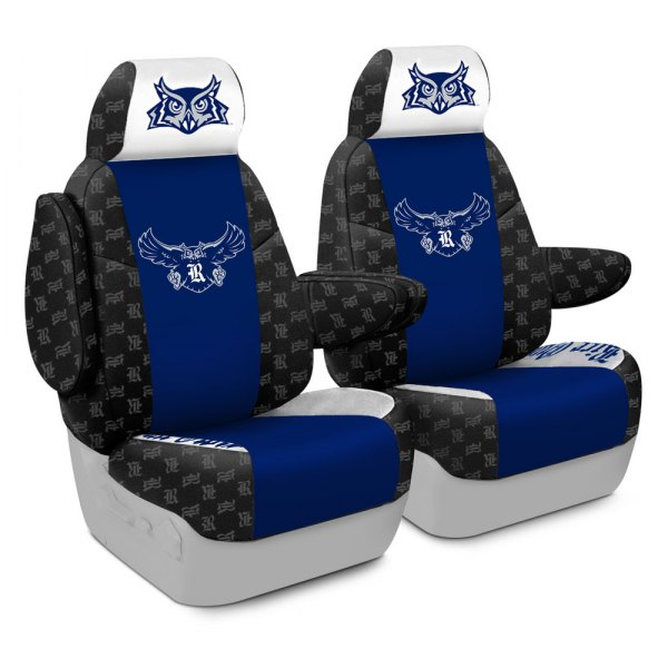 Coverking® - Licensed Collegiate 1st Row Custom Seat Covers with Rice University Logo