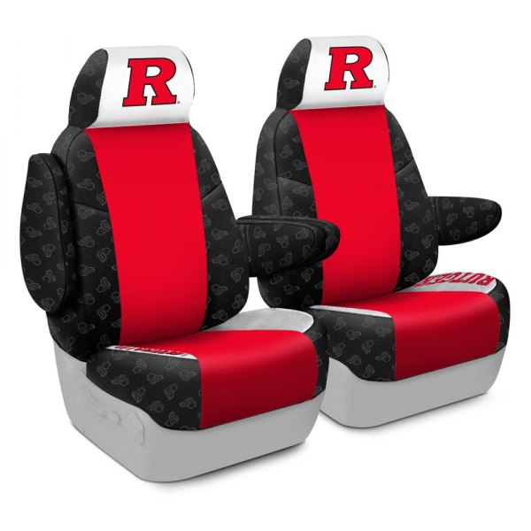 Coverking® - Licensed Collegiate 1st Row Custom Seat Covers with Rutgers, State University of New Jersey Logo