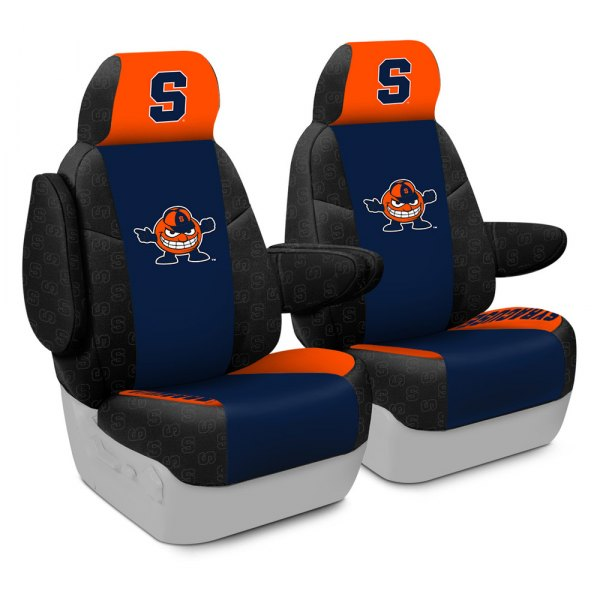 Coverking® - Licensed Collegiate 1st Row Custom Seat Covers with Syracuse University Logo