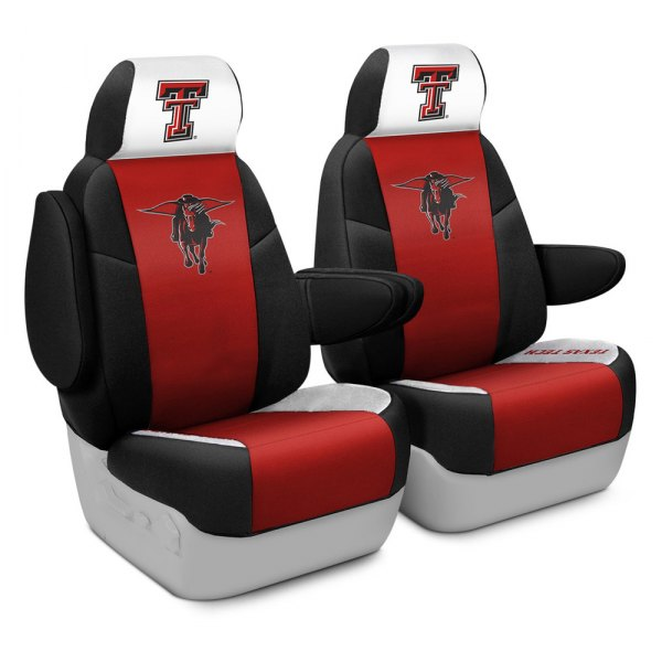 Coverking® - Licensed Collegiate 1st Row Custom Seat Covers with Texas Tech University Logo