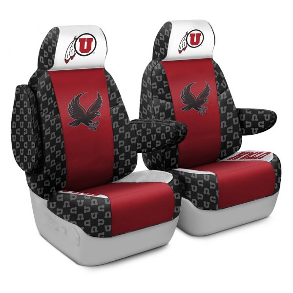 Coverking® - Licensed Collegiate 1st Row Custom Seat Covers with University of Utah Logo