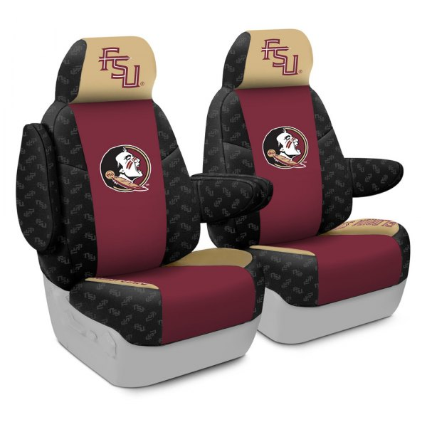 Coverking® - Licensed Collegiate 1st Row Custom Seat Covers with Florida State University Logo
