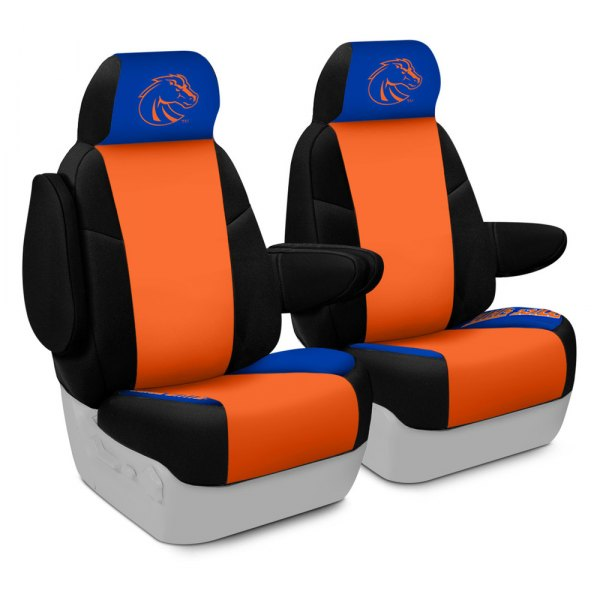 Coverking® - Licensed Collegiate 1st Row Custom Seat Covers with Boise State Logo
