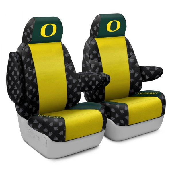 Coverking® - Licensed Collegiate 1st Row Custom Seat Covers with Oregon Logo