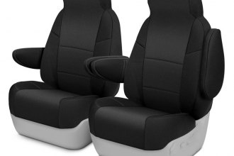 Coverking® CSCF1NS7123 - CR-Grade Neoprene 1st Row Black Custom Seat Covers