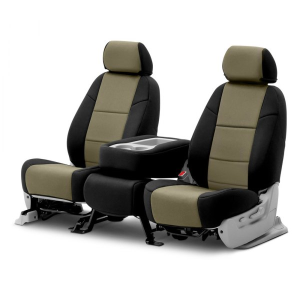 Coverking® - CR-Grade Neoprene 2nd Row Black & Tan Custom Seat Covers
