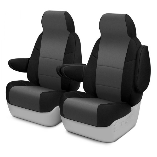 Coverking® - CR-Grade Neoprene 1st Row Black & Charcoal Custom Seat Covers