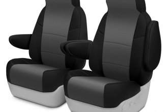 Coverking® CSCF12TT7664 - CR-Grade Neoprene 1st Row 2-Tone Black & Charcoal Custom Seat Covers