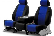 Coverking® - CR-Grade Neoprene 2nd Row Black & Blue Custom Seat Covers