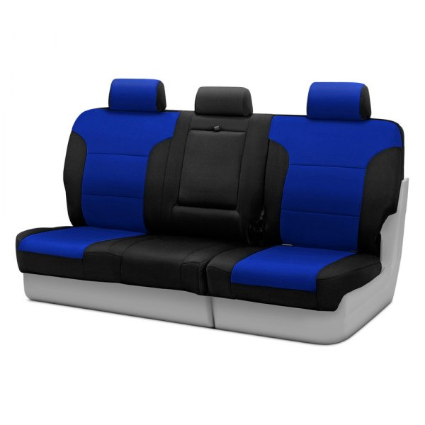 Coverking® - CR-Grade Neoprene 3rd Row Black & Blue Custom Seat Covers