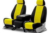 Coverking® - CR-Grade Neoprene 2nd Row Black & Yellow Custom Seat Covers