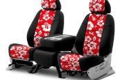 Coverking® - CR-Grade Neoprene 2nd Row Black & Hawaiian Red Custom Seat Covers