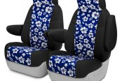 Coverking® - CR-Grade Neoprene 1st Row Black & Hawaiian Blue Custom Seat Covers