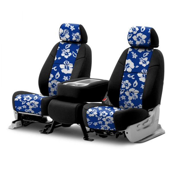 Coverking® - CR-Grade Neoprene 2nd Row Black & Hawaiian Blue Custom Seat Covers