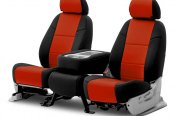 Coverking® - CR-Grade Neoprene 2nd Row Black & Inferno Orange Custom Seat Covers