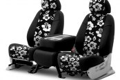 Coverking® - CR-Grade Neoprene 2nd Row Black & Hawaiian Black Custom Seat Covers