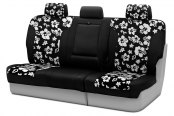 Coverking® - CR-Grade Neoprene 3rd Row Black & Hawaiian Black Custom Seat Covers
