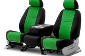 Coverking® - CR-Grade Neoprene 2nd Row Black & Synergy Green Custom Seat Covers