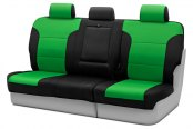 Coverking® - CR-Grade Neoprene 3rd Row Black & Synergy Green Custom Seat Covers