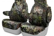 Image may not reflect your exact vehicle! Coverking® - Mossy Oak™ 1st Row Camo Shadow Grass Custom Seat Covers