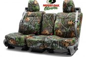 Image may not reflect your exact vehicle! Coverking® - Mossy Oak™ 2nd Row Camo Shadow Grass Custom Seat Covers