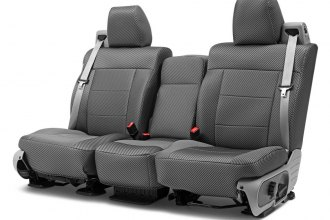 Coverking® CSCPD01FD8471 - Designer Printed Neosupreme 2nd Row Carbon Fiber Custom Seat Covers