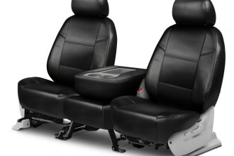 Coverking® - Leatherette 2nd Row Black Custom Seat Covers