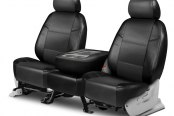 Coverking® - Leatherette 2nd Row Black & Charcoal Custom Seat Covers
