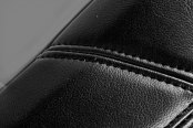 Coverking® - Leatherette Black & Light Gray Custom Seat Covers Material
