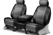 Coverking® - Leatherette 2nd Row Black & Light Gray Custom Seat Covers