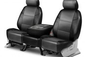 Coverking® - Leatherette 2nd Row Black & Medium Gray Custom Seat Covers