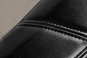 Coverking® - Leatherette Black & Cashmere Custom Seat Covers Material