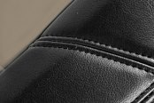Coverking® - Leatherette Black & Taupe Custom Seat Covers Material