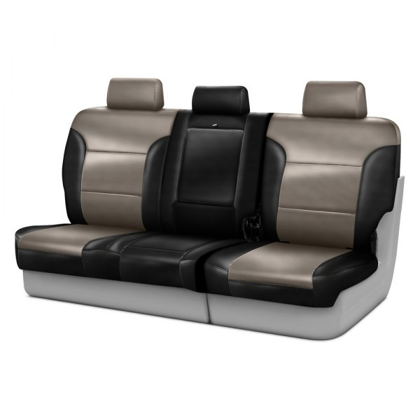 Coverking® - Leatherette 3rd Row Black & Taupe Custom Seat Covers