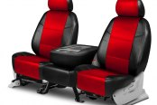Coverking® - Leatherette 2nd Row Black & Red Custom Seat Covers