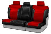 Coverking® - Leatherette 3rd Row Black & Red Custom Seat Covers