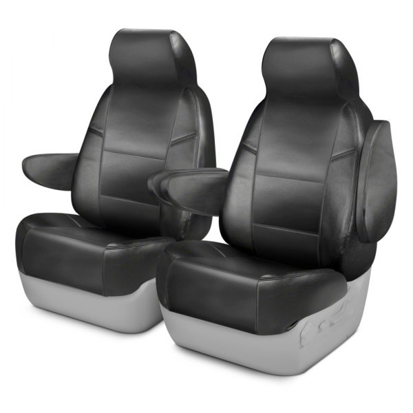 Coverking® - Leatherette 1st Row Charcoal Custom Seat Covers