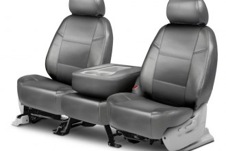 Coverking® - Leatherette 2nd Row Light Gray Custom Seat Covers