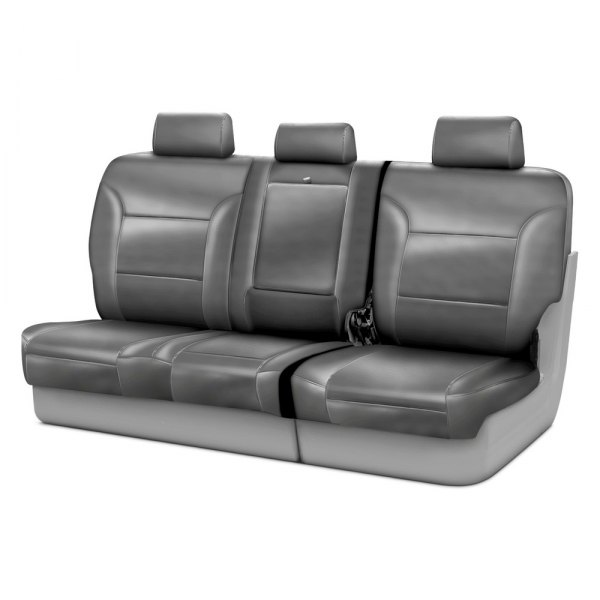 Coverking® - Leatherette 3rd Row Light Gray Custom Seat Covers