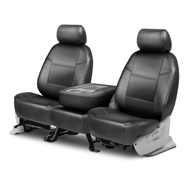 Coverking® - Leatherette 2nd Row Medium Gray Custom Seat Covers