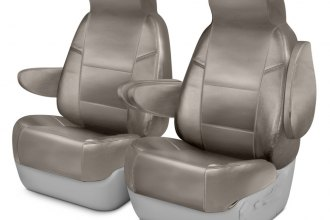 Coverking® CSCQ5AC7039 - Leatherette 1st Row Cashmere Custom Seat Covers