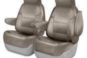 Image may not reflect your exact vehicle! Coverking® - Leatherette 1st Row Custom Seat Covers