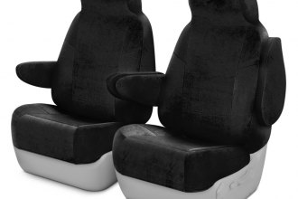 Coverking® CSCV1MA7064 - Velour 1st Row Black Custom Seat Covers